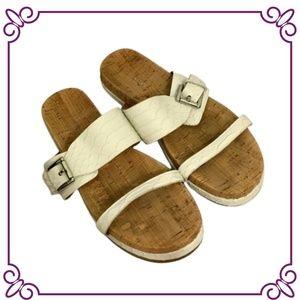 Coach White Sandals